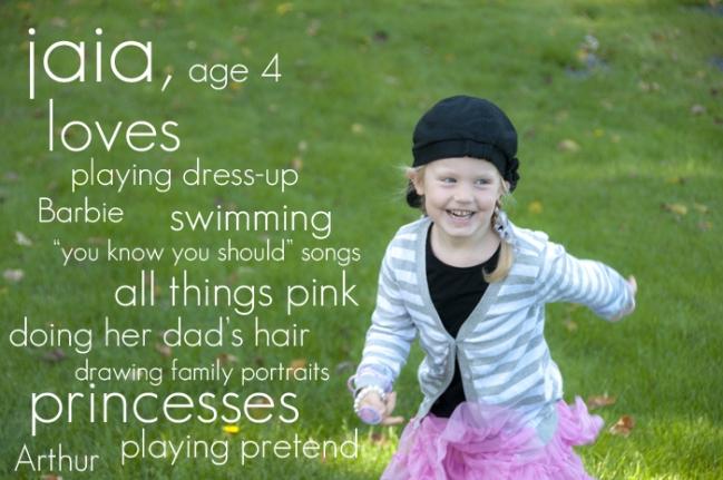 Jaia, age 4sm